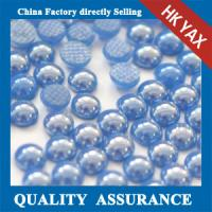 China Ceramic stone fluorescein half round flatback pearls wholesale,ceramic flatback pearl on sale