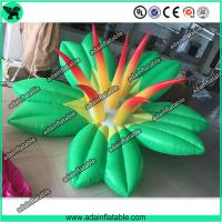 Quality Autumn Holiday Indoor Event Party Decoration Inflatable Green Flower With LED Light for sale