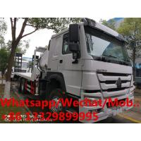 Quality HOT SALE! SINO TRUK HOWO 6*4 RHD 14T flatbed truck with knuckle crane boom, folded crane boom mounted on truck for sale for sale