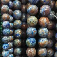 Quality Lapis Lazuli 's color Stripe stone  round beads for sale