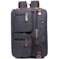 Iron Grey Polyester Laptop Bag With Pockets Drop Resistance Large Capacity