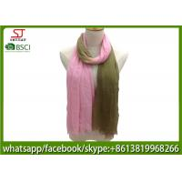 Quality Chinese factory frayed two colors ombre lightweight scarf 100% Viscose 70*180cm spring summer autumn sun protection for sale