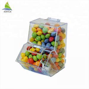 Quality Elegant Small Acrylic Sweet Display Plexiglass Sweet Box Smooth Surface for sale