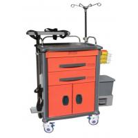 China Plastic Home / Hospital Medical Crash Cart , 4 Aluminum Alloy Columns on sale
