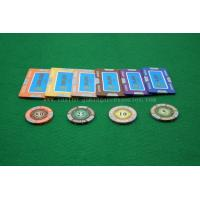 Buy cheap Luxury Customized Blue Square Clay Composite Poker Chip For Casino Gaming product