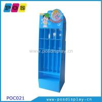 Quality corrugated cardboard pos display stand with hooks for hanging items-POC021 for sale