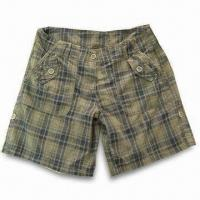 Quality Men's Short with Enzyme Wash, Made of Y/D Fabric for sale