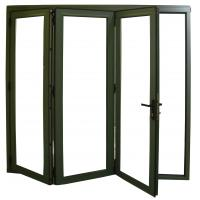 Folding doors folding doors exterior aluminium for Folding doors