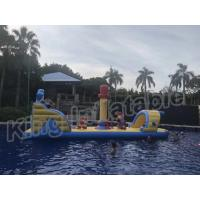 Buy cheap Commercial Floating Kids Inflatable Water Parks With Slide , Customized Color from wholesalers