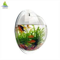 Quality Modern Acrylic Shop Display Customized Wall Mounted Clear Round Acrylic Fish Tank for sale