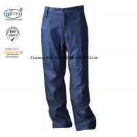 China Arc Flash Protective Men's Fr Cargo Work Pants / Fireproof Trousers Denim Dungaree on sale