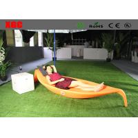 China Plastic Swimming Pool Furniture / Modern Outdoor Chaise Lounge 255*84*42 Cm on sale