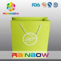 China Recycled Square Bottom Customized Paper Bags / Printed Paper Shopping Bags on sale