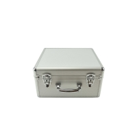 Quality Light weight portable watch case aluminum watch carry box silver removable trays for sale