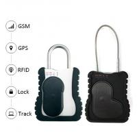 China Smart GPS vehicle tracker Waterproof Trcuk GPS Tracking Padlock with long cable remote open lock function on sale