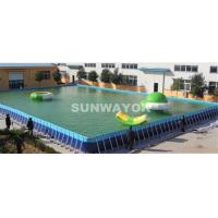 Quality Flooring Mobile Portable Swimming Pools Wih Galvanized Steel Bracket Metal for sale