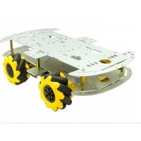 Aluminum Alloy RC Robot Car Chassis With Mecanum Wheel
