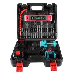 China 25pcs  bits cordless drill power tool set  21V battery  flexible hex shaft on sale