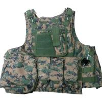 Quality Protective Military Combat Vest With Three / Four Pouches And Chest Protector for sale