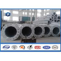 Conical / Round 10M swaged type Steel Tubular Pole For 110kv Power Distribution Line