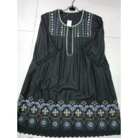 China Sleeve Womens Casual Summer Dress , Cotton / Polyester on sale