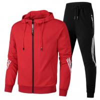 China Custom your own brand mens cotton hoodie jogging/moring running/training tracksuit or sports suit on sale