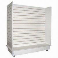 Quality 4 Facing Wooden Slatwall Rack with Aluminum Insert for sale