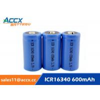 Buy cheap 16340 650mAh 3.7V li-ion battery / cylindrical rechargeable battery for LED from wholesalers