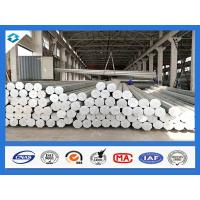 China 35FT 3mm Thick Q345 Galvanized Metal Pole Electric Steel Poles 500KGF Load on sale