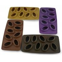China 8 Cavity Custom Silicone Molds Food Grade , Ice Cube Mould Coffee Bean Shaped on sale