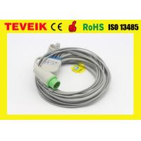 Buy cheap Biolight Round 12pin ECG Cable For Patient Monitor , 5leads from wholesalers