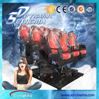 Quality 2250 Watt 220 Volt 5D Cinema Equipment , 5D Motion Ride With Surround Sound For Game for sale