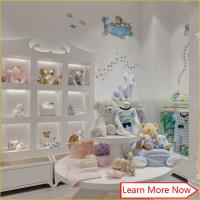 China High end fashion wooden white painting kids clothing stores baby girl clothes on sale