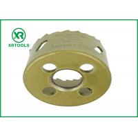 Quality Gold Round Bi Metal Hole Saw , HSS M42 Carbide Tipped Hole Saw With Built for sale