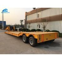 China 2 Axles Low Bed Semi Trailer 20-40 Tons Machine Loading Spring Steel Suspension on sale