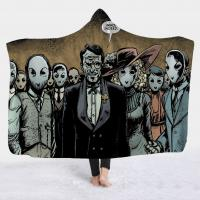 Buy Horror Movie Character Hooded Blanket for Adult Gothic Halloween Sherpa polar at wholesale prices