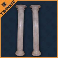 Quality Modern Simple Natural Stone Column With Beige Marble , Custom And Polished for sale
