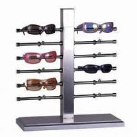 China Silver Spectacle Frame Display Units , Wall Mounted Sunglass Holder For Supermarket on sale