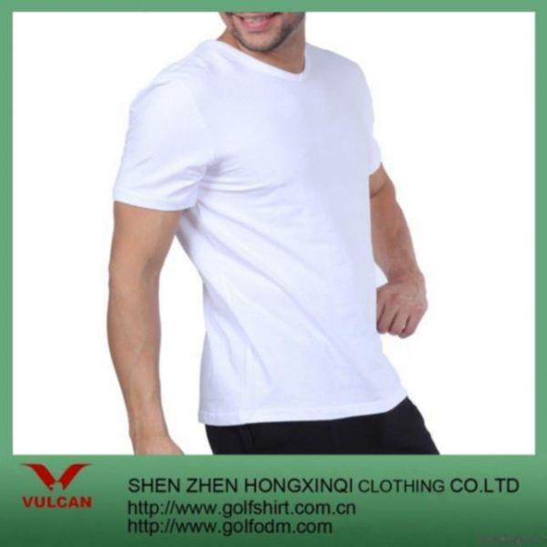 Buy Blank Men's V-neck T Shirt Custom at wholesale prices