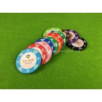 Buy cheap Customized Clay Composite Casino Poker Chips 40mm / 43mm / 45mm from wholesalers