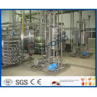 Quality 1000 - 100000LPH Ultra High Temperature UHT Milk Processing Line With Aseptic Package for sale
