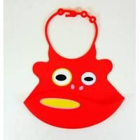 Quality 2012 lovely custom Cute Cartoon Rubber Silicone Infant Bibs for sale