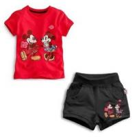 Buy cheap Kids Clothes100% Cotton Children Cartoon Clothing Roses T-Shirt + Shorts Suit from wholesalers