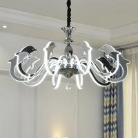 China Fancy big acrylic bead chrome Led chandelier For Kids Children Room Lighting (WH-LC-04) on sale