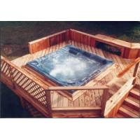 Quality TF-9601i Hot Tub Furniture wicker stair with PVC panel for sale