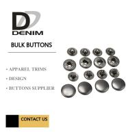 Quality Anti Black Silver Clothing Snap Buttons , Bulk Replacement Snap Buttons Custom for sale