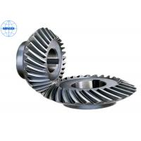 China Customized Spiral Stainless Steel Bevel Gears For Marine / Helical Bevel Gear on sale