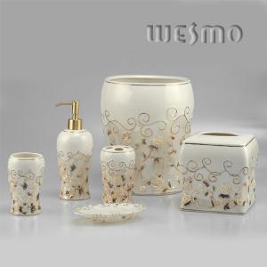 Quality WBC0451A  Diabolo Shape Top - Grade Porcelain Bathroom Accessory Sets for sale