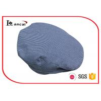 Buy cheap Seersucker mens flat hat with chambray sweatband and herringbone twill lining product