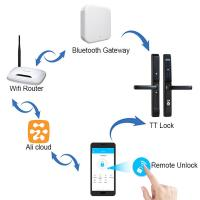 Quality Remote Control Passcode Lock Support Code Bluetooth APP Card Access Door Lock for sale